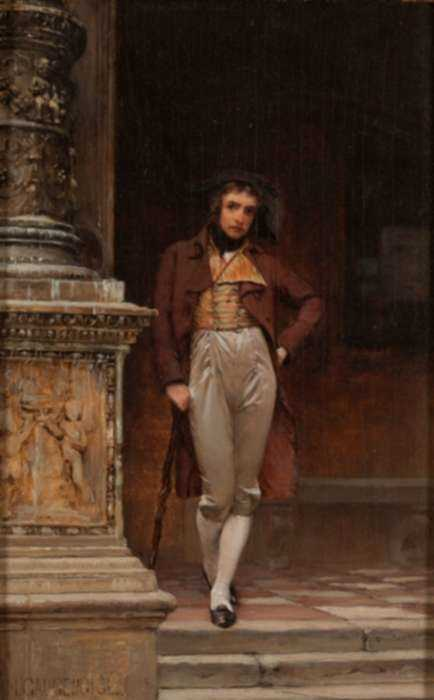 Painting by Ignaz Marcel Gaugengigl: The Dandy, represented by Childs Gallery