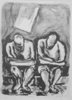 Print by Isidoro Ocampo: Two Vagabonds, represented by Childs Gallery