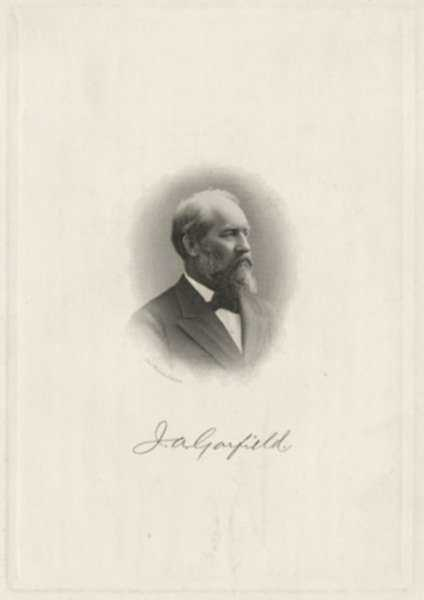 Print by J. A. J. Wilcox: James Garfield, represented by Childs Gallery
