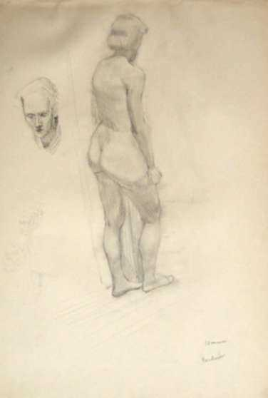 Drawing by Jack Kramer: Backview, represented by Childs Gallery