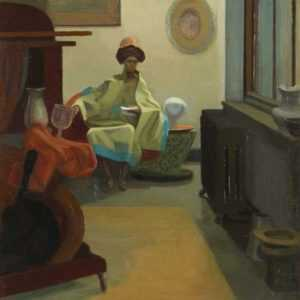 Painting by Jack Kramer: The Letter By Lamplight, represented by Childs Gallery