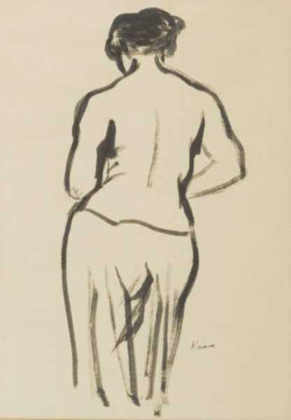 Drawing by Jacob Kainen: Untitled (Figure Drawing), represented by Childs Gallery