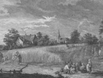 Print by Jacques Philippe Le Bas: View of Flanders, represented by Childs Gallery