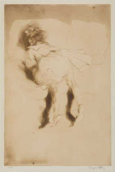 Print by Jacques Villon: Petite Boudeuse, represented by Childs Gallery