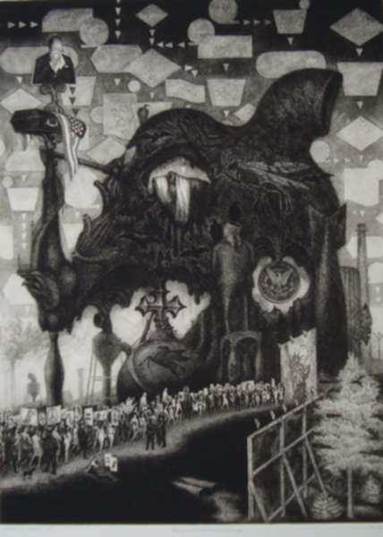 Print by James Egleson: Enigma of the Structure and the Image, represented by Childs Gallery
