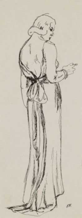 Drawing by Jared French: Woman from Behind, represented by Childs Gallery