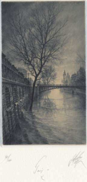 Print by Jean Michel Mathieux-Marie: Paris II: 2, represented by Childs Gallery
