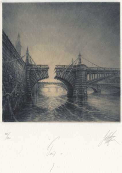 Print by Jean Michel Mathieux-Marie: Paris II: 3, represented by Childs Gallery