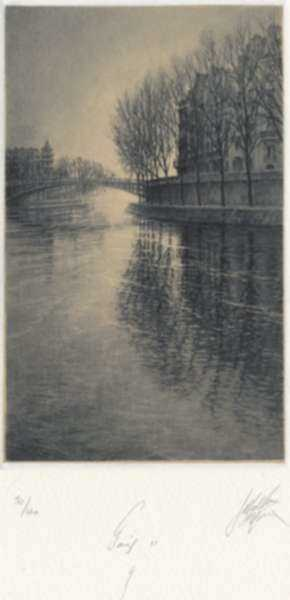 Print by Jean Michel Mathieux-Marie: Paris II: 4, represented by Childs Gallery