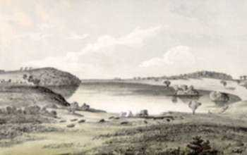 Print by John Mix Stanley: Pike Lake, represented by Childs Gallery