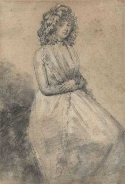Drawing by John Raphael Smith: [A Seated Lady], represented by Childs Gallery