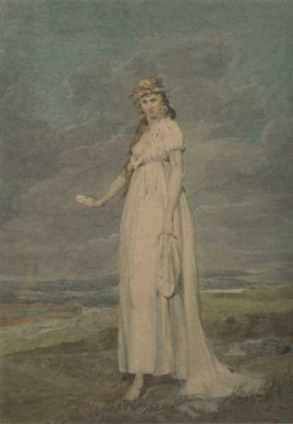 Watercolor by John Rubens Smith: The Tragic Muse, represented by Childs Gallery