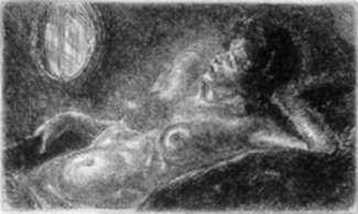 Print by John Sloan: Half Nude on Elbow, represented by Childs Gallery