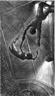 Print by John Steuart Curry: The Missed Leap, represented by Childs Gallery