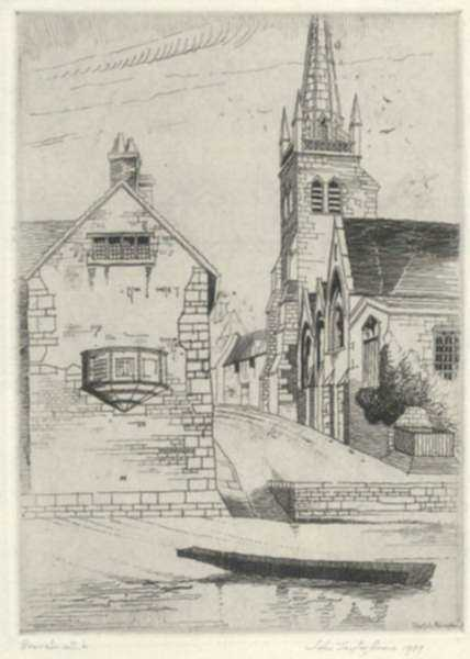 Print by John Taylor Arms: Abington, Berkshire (Sketch), represented by Childs Gallery