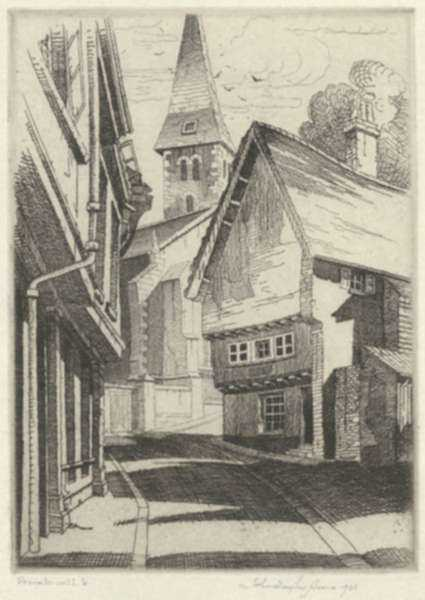Print by John Taylor Arms: Norwich (Sketch), represented by Childs Gallery