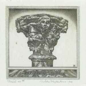 Print by John Taylor Arms: Portrait of a Romanesque Capital or The Portrait of a Mediev, represented by Childs Gallery