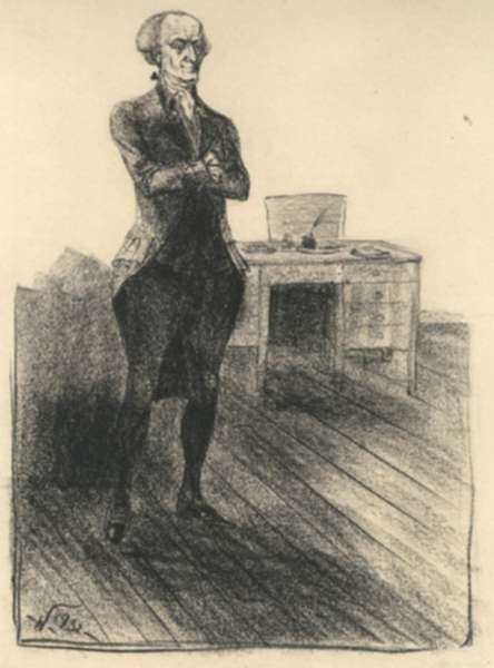 Drawing by John Winkler: Elbridge Gerry, represented by Childs Gallery