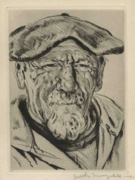 Print by Joseph Margulies: [Breton Seaman], represented by Childs Gallery