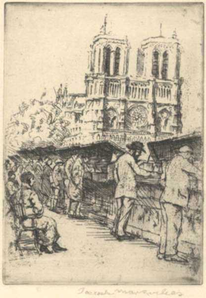 Print by Joseph Margulies: [Notre Dame, Paris 2], represented by Childs Gallery