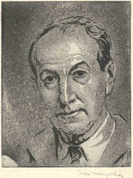 Print by Joseph Margulies: [Self Portrait 20], represented by Childs Gallery