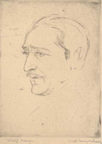Print by Joseph Margulies: Adolphe Menjou, represented by Childs Gallery