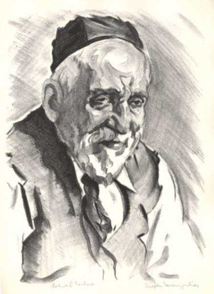 Print by Joseph Margulies: Retired Tailor, represented by Childs Gallery