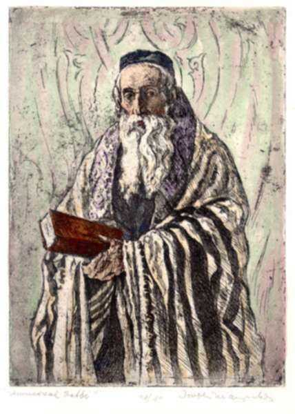 Print by Joseph Margulies: Universal Rabbi, represented by Childs Gallery