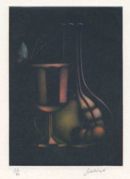 Print by Laurent Schkolnyk: Transparences, represented by Childs Gallery