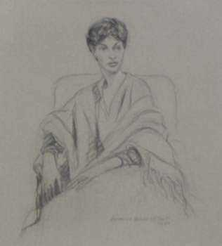 Drawing by Lawrence Nelson Wilbur: Connie, represented by Childs Gallery