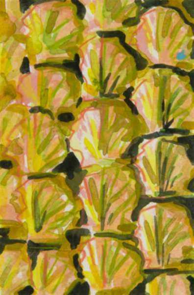 Mixed media by Lee Essex Doyle: Pink, Yellow, and Black Shells, represented by Childs Gallery