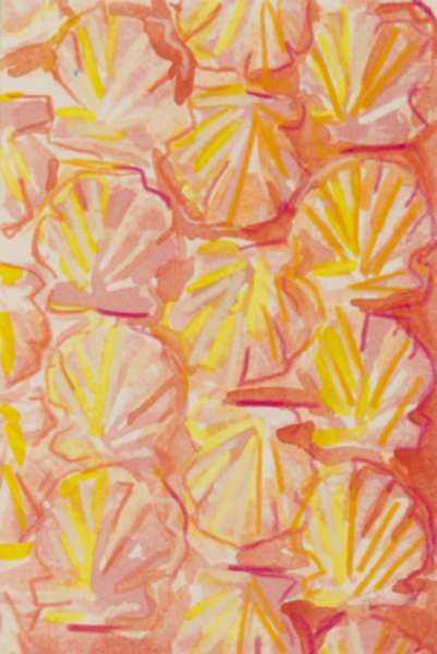 Mixed media by Lee Essex Doyle: Pink and Yellow Shells, represented by Childs Gallery