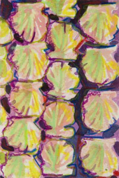 Mixed media by Lee Essex Doyle: Purple and Green Shells, represented by Childs Gallery