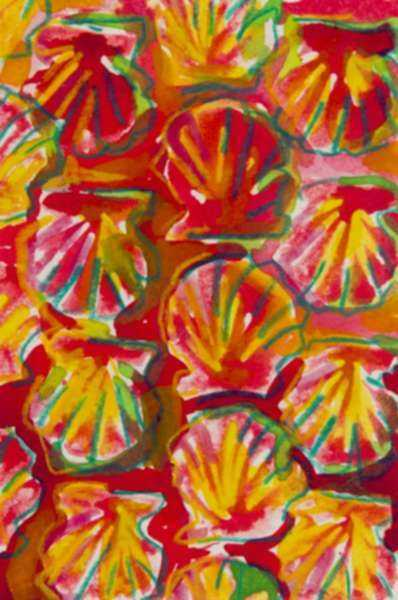 Mixed media by Lee Essex Doyle: Red and Green Shells, represented by Childs Gallery