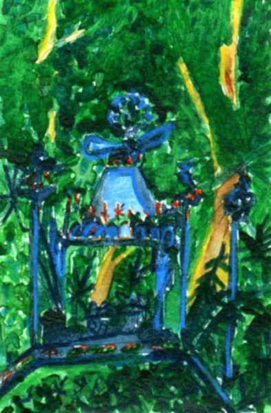 Mixed media by Lee Essex Doyle: Study for Garden Throne, represented by Childs Gallery