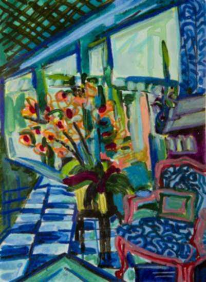 Mixed media by Lee Essex Doyle: Study of Malachite Room, represented by Childs Gallery