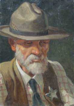 Painting by Leo Blake: The Sheriff, represented by Childs Gallery