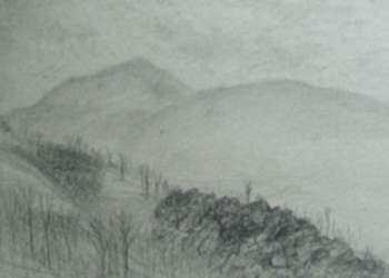 Drawing by Leo Meissner: [Mountain Range, North Carolina], represented by Childs Gallery