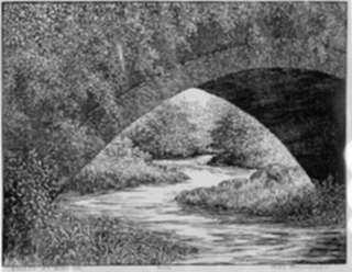 Print by Leo Meissner: Bridge at Glencoe, represented by Childs Gallery