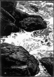 Print by Leo Meissner: Cauldron, represented by Childs Gallery