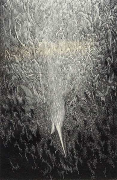 """Print by Leo Meissner: Genesis 1:3 """"Let There Be Light"""" (unsigned), represented by Childs Gallery"""