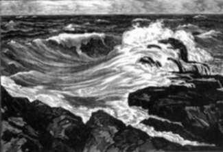 Print by Leo Meissner: Running Sea, represented by Childs Gallery