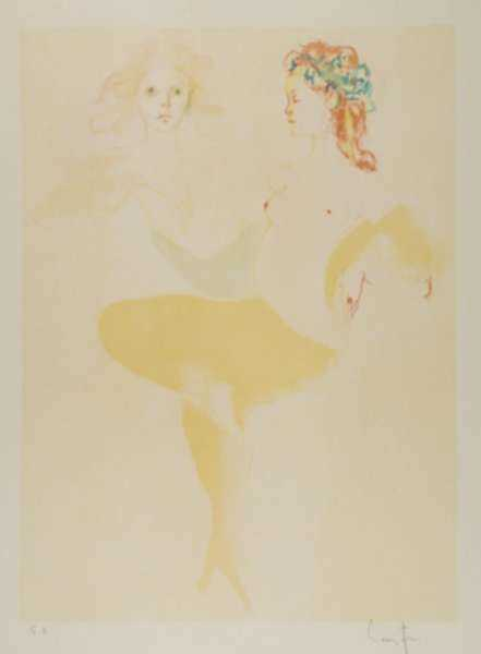 Print by Leonor Fini: Visages, represented by Childs Gallery