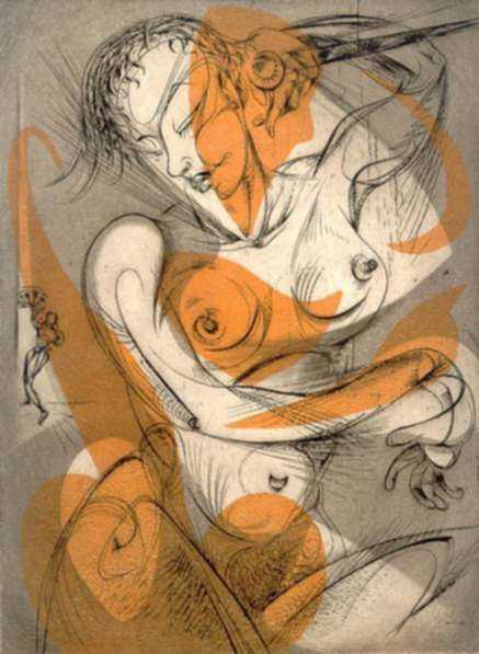 Print by Letterio Calapai: Lyrica, represented by Childs Gallery