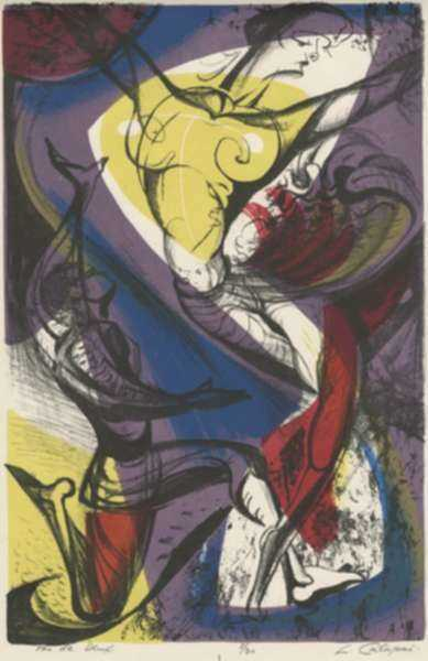 Print by Letterio Calapai: Pas de Deux, represented by Childs Gallery