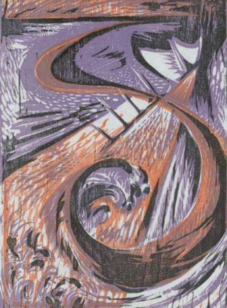 Print by Letterio Calapai: Sea Swirl, represented by Childs Gallery