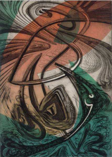 Print by Letterio Calapai: Sky + Wave, represented by Childs Gallery