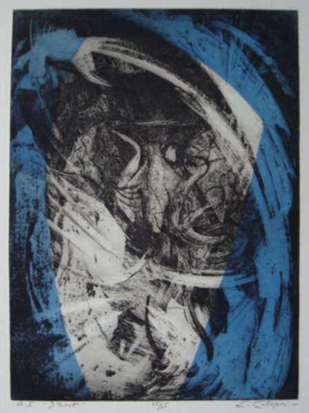 "Print by Letterio Calapai: The Seven Last Words of Christ: No. 5, ""I thirst"", represented by Childs Gallery"