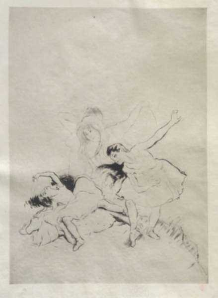 Print by Louis Auguste Mathieu Legrand: [Ballerinas], represented by Childs Gallery