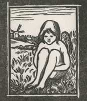 Print By Lucien Pissarro: L'amour Manillé (love Chained Down) At Childs Gallery